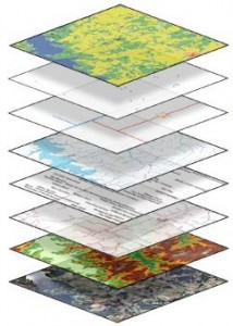 USGS image showing layers of The National Map; 2004, licensed for public domain, http://cegis.usgs.gov/images