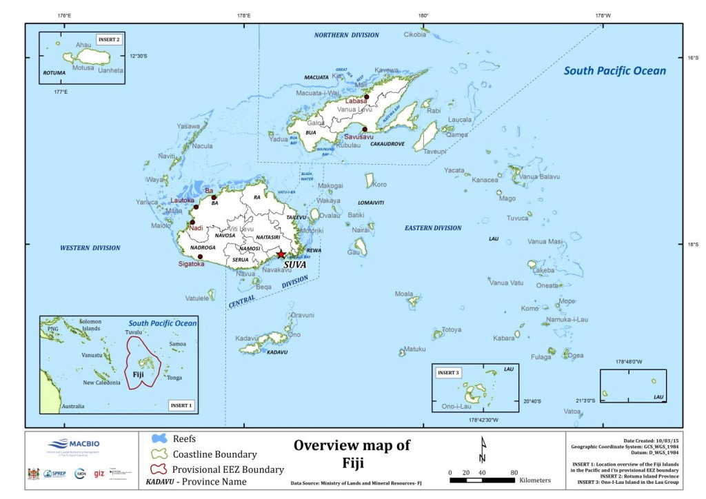 Fiji Overview Map