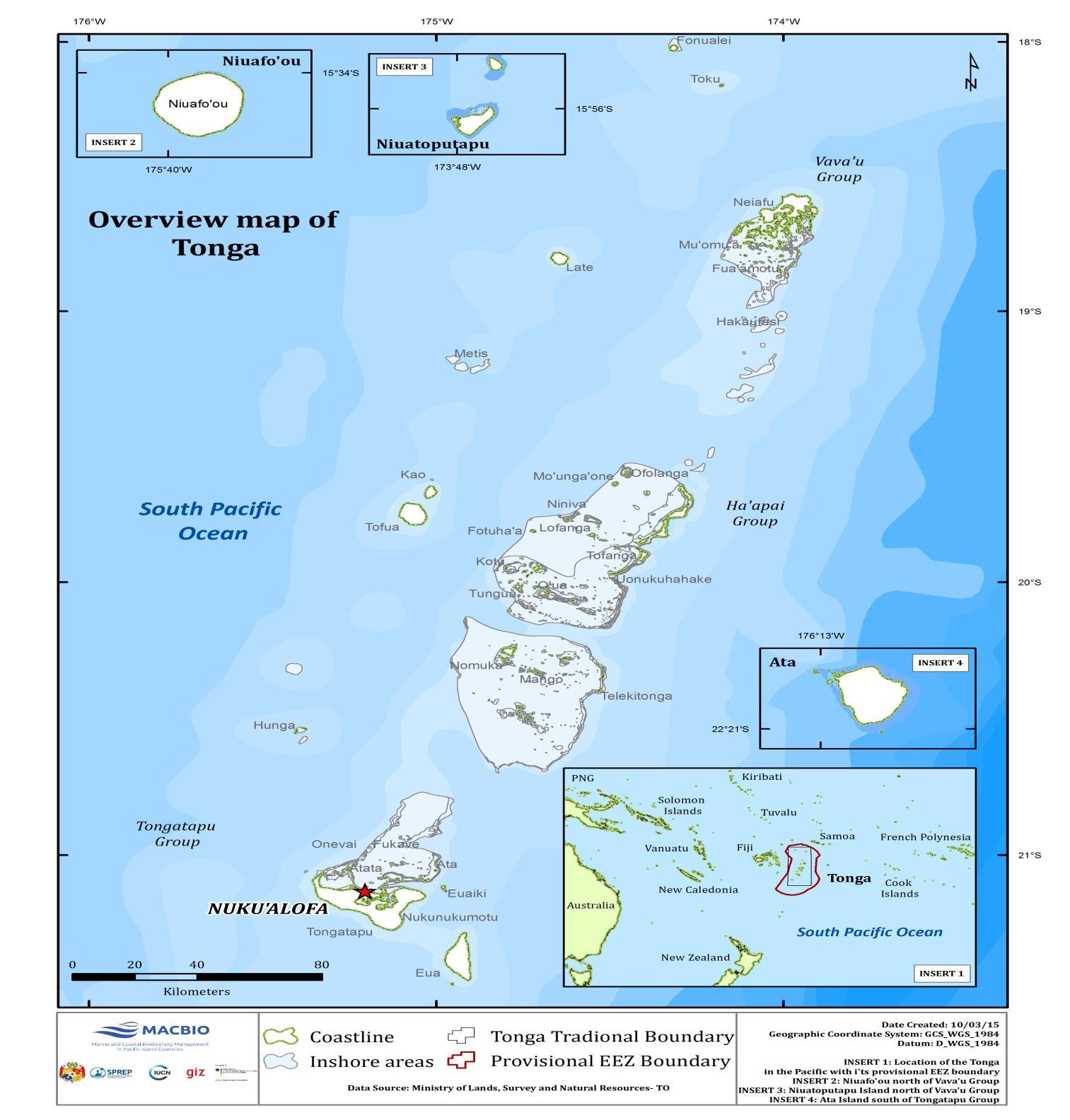 Tonga - Tonga map