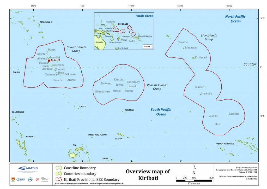 Kiribati Overview Map