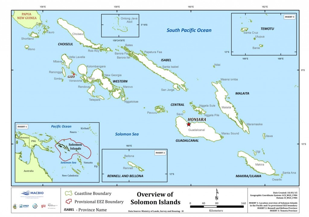 Solomon Islands Overview Map