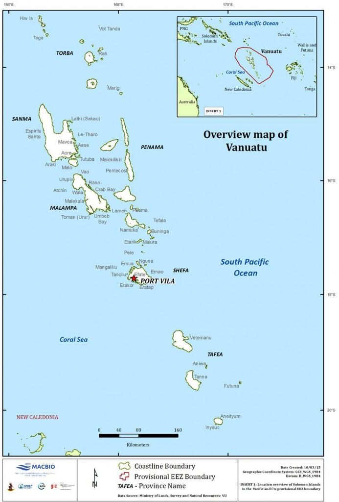 Vanuatu Overview Map