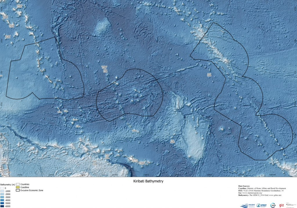 Kiribati Bathymetry Map