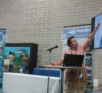 Ms Ana Fekau explaining Tonga's Marine Spatial Planning Process