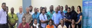 Participants at the Ocean Zone Typology Workshop, Port Vila, 20 July 2017